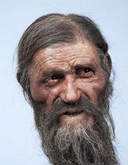 Ötzis Gesicht in der Rekonstruktion der Brüder Kennies