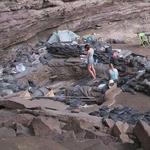 Blick auf die Fundstelle Sibudu. Foto Wadley